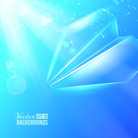 toy plane: Paper airplane origami  Vector illustration