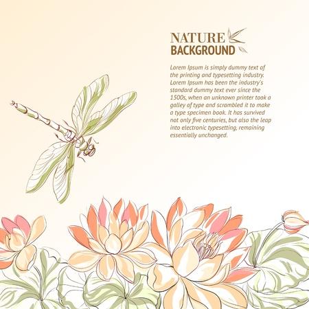 Flor de Lotus e lib Ilustra��o
