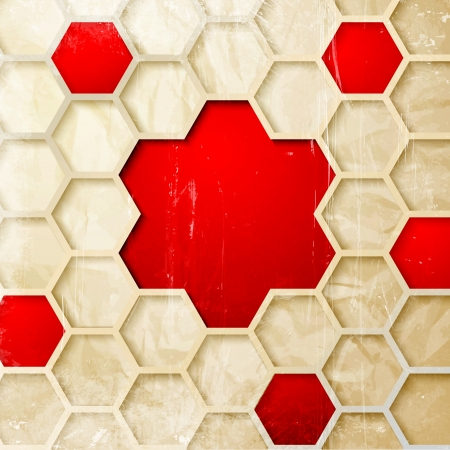 multifaceted: Abstract hexagon background  Vector illustration, contains transparencies, gradients and effects
