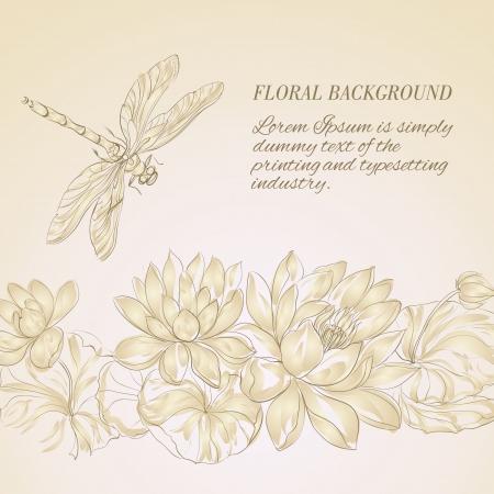 Flor de Lotus e lib�lula