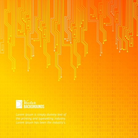 Abstract orange lights background  Vector illustration, contains transparencies, gradients and effects Фото со стока - 19338162