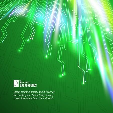 Abstract verde ilumina o fundo do vetor, cont�m transpar�ncias, gradientes e efeitos Ilustra��o