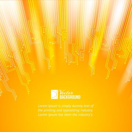 Resumo de laranja ilumina o fundo do vetor, cont�m transpar�ncias, gradientes e efeitos