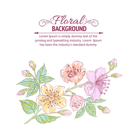 Abstract flower background Stock Vector - 19371101