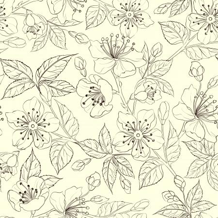 dessin fleur: Seamless floral
