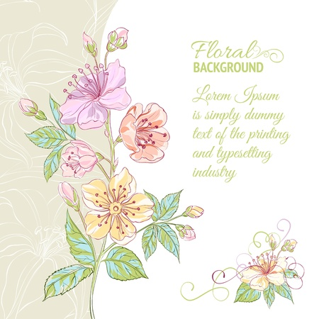 scrapbook paper: Abstract flower background