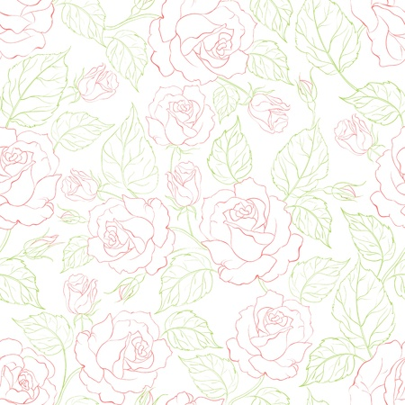 Rose seamless background  Vector illustration  Vector