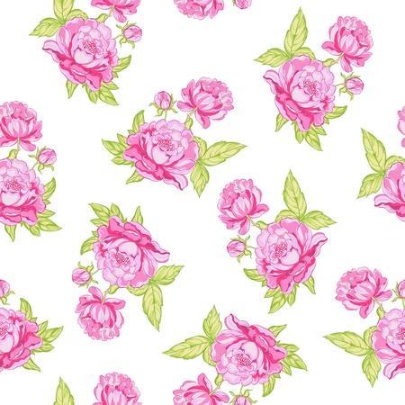 Rose seamless background  Vector illustration  Illustration
