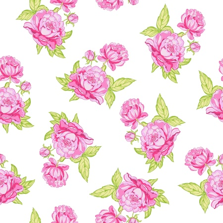 liberty: Rose seamless background  Vector illustration  Illustration