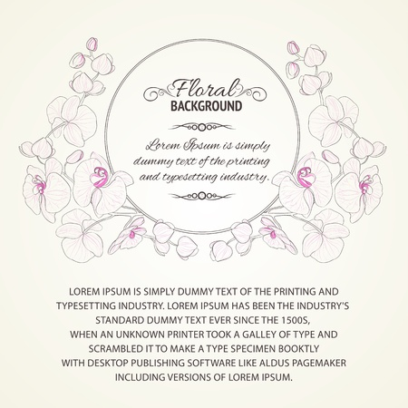 Orchid curly frame  Vector illustration Stock Vector - 19664473