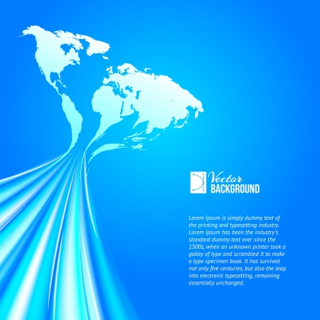 World map technology style  Vector illustration, contains transparencies, gradients and effects  Vector