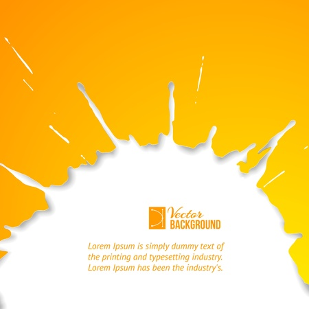 Orange drop over white  Vector illustration, contains transparencies, gradients and effects  Vector