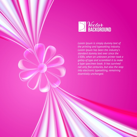 Abstract violet glass flower  Vector illustration, contains transparencies, gradients and effects  Vector