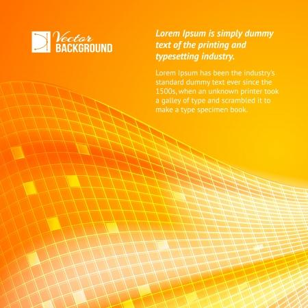 Abstract orange tiles background  Vector illustration Stock Vector - 19991524
