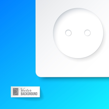 Outlet closeup on a blue background