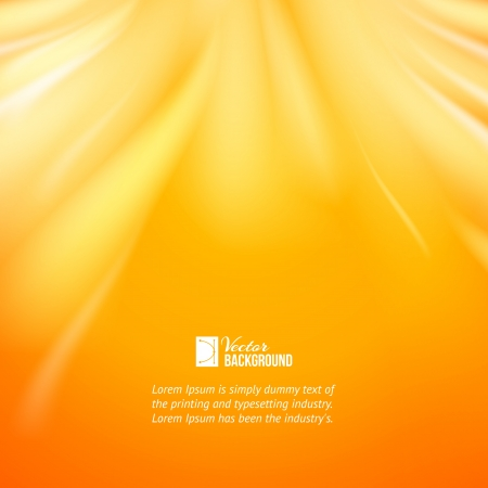Warm sun light, abstract bacground  Vector illustration, contains transparencies, gradients and effects  Vector