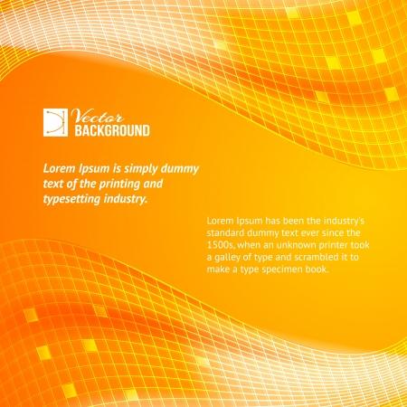 Abstract orange tiles background  Vector illustration Stock Vector - 19991539