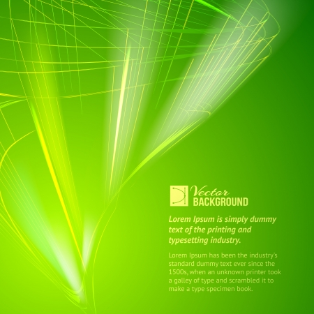 Abstract design green background  Vector illustration, contains transparencies, gradients and effects  Vector
