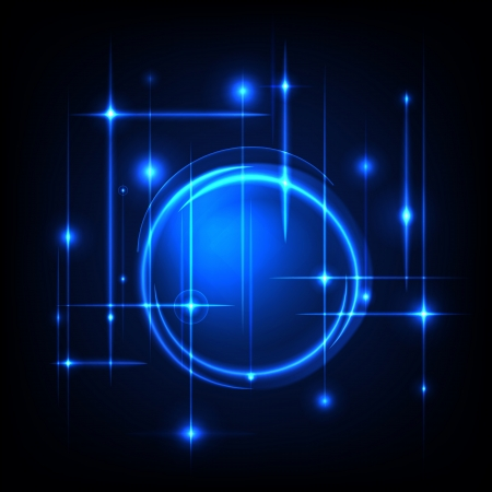 Blue radial background, blue and white light Vector