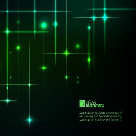 Glitter stars on green light burst illustration Stock Vector - 20230709