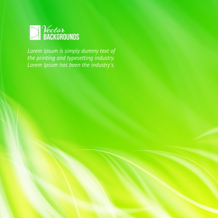Green glowing background illustration Stock Vector - 20236116