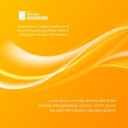 flurry: Abstract orange wind illustration Illustration