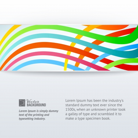 gray strip: Abstract horizontal band over gray background illustration Illustration