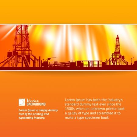 mask gas: Resumen de la plataforma petrolera de la ilustraci�n de fondo Vectores