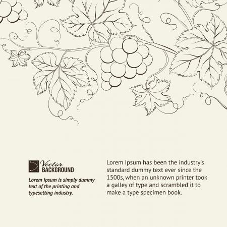 vineyard: Wine list label illustration