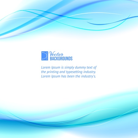 transparencies: Blue abstract design  Vector illustration, contains transparencies, gradients and effects