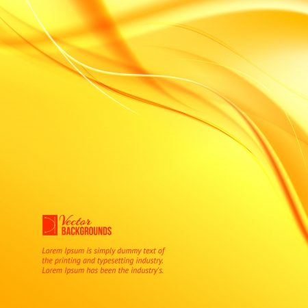 incense: Orange smoke on yellow background  Vector illustration, contains transparencies, gradients and effects  Illustration