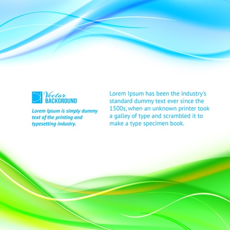 Abstract banner  Vector illustration, contains transparencies, gradients and effects