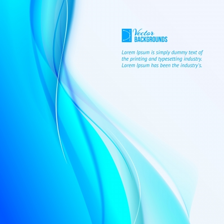 Abstract blue background illustration, contains transparencies, gradients and effects Stock Vector - 20875790