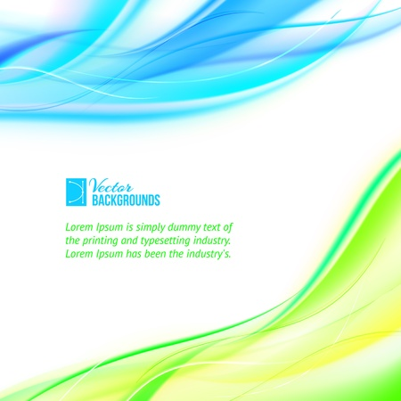 Abstract banner illustration, contains transparencies, gradients and effects