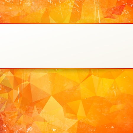 transparencies: Orange abstract geometrical background  illustration, contains transparencies, gradients and effects