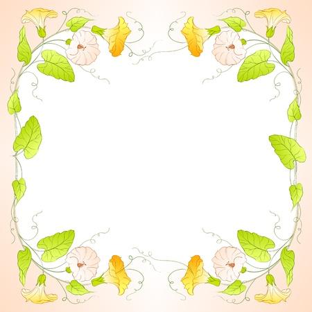 bindweed: Flowers Frame of bindweed  Vector illustration