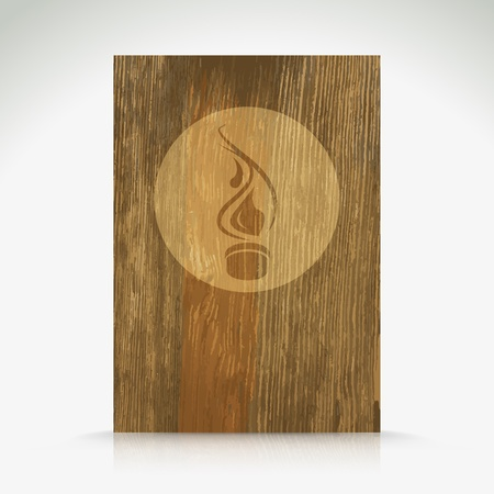 Fire flame burn on wood texture  Vector background Stock Photo - 20827573