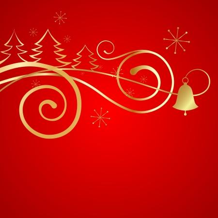 Red Christmas banner  illustration  illustration
