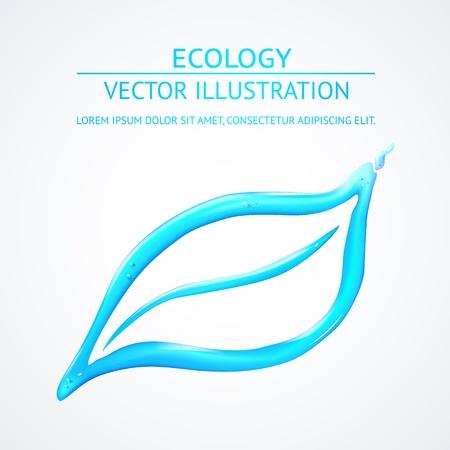 Vloeibare eco simbol op wit wordt geïsoleerd. Vector illustratie. Stock Illustratie