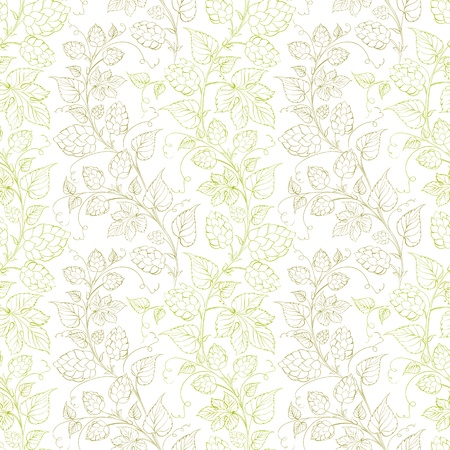 Hop seamless pattern. Vector illustration. Vector