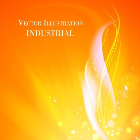 産業火の抽象的な背景。ベクトル イラスト。