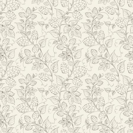 plant: Hop seamless pattern. Vector illustration.