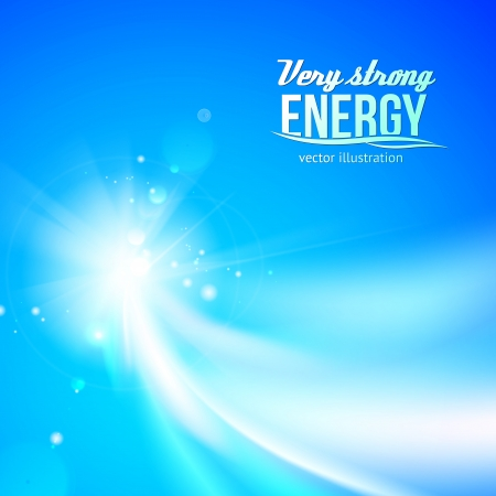 Glowing dynamic wave on an blue background.  Vector illustration Vector