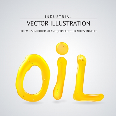 Oil liquid text. On a white background. Vector illustration. Stock Vector - 21857318