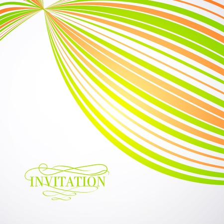 curve ahead sign: Background from multi-colored strips. Vector illustration. Illustration