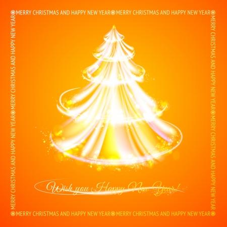 orange tree: Orange tree of glowing stripes. Vector illustration.