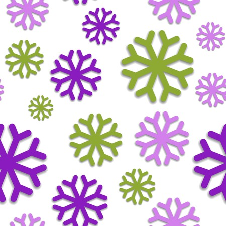 voilet: Seamless pattern with violet snowflakes. Vector illustration.