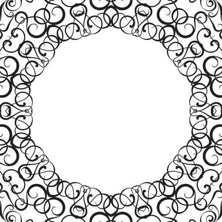 curle: Formality circular devices of border frames. Vector illustration. Illustration