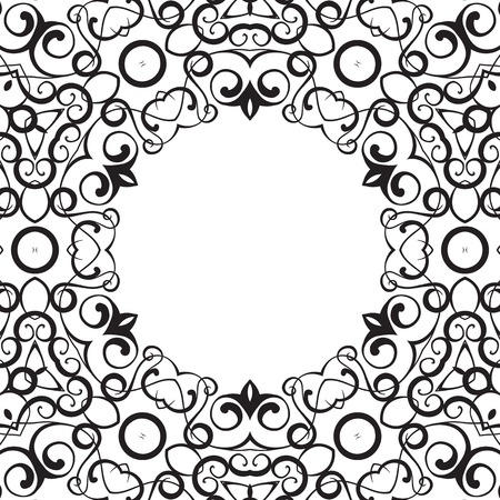 neoclassical: Formality circular devices of border frames. Vector illustration. Illustration