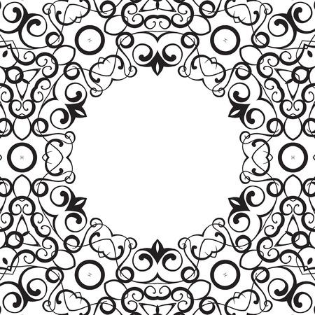 Formality circular devices of border frames. Vector illustration. Stock Vector - 23079479